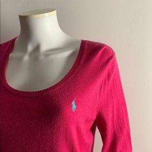 Pink Ralph Lauren Sweater XL